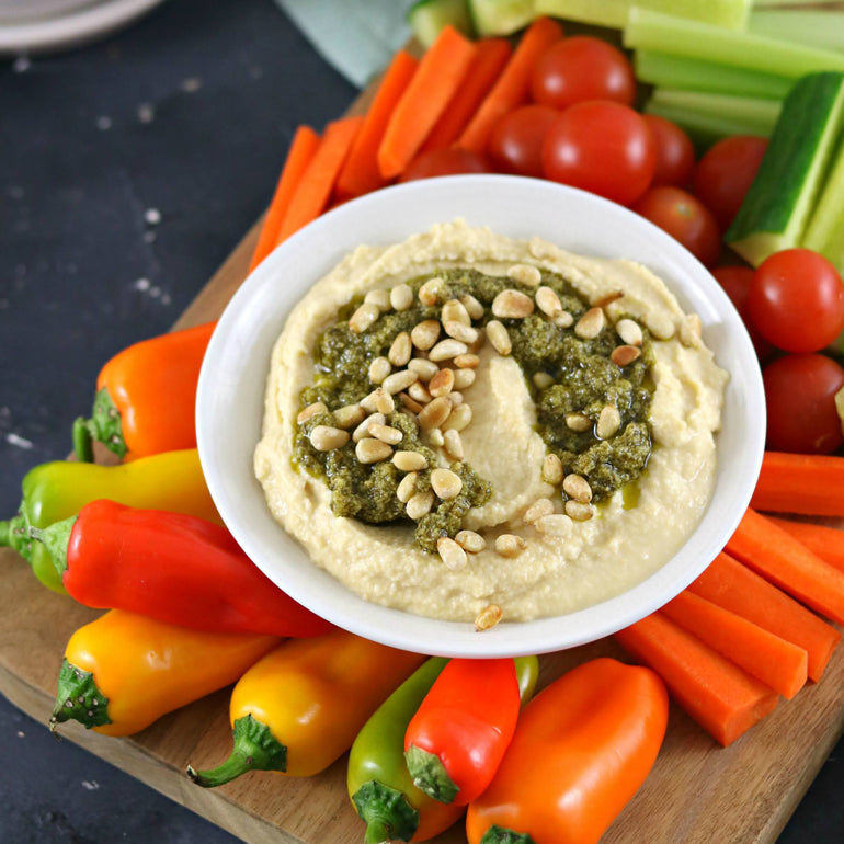Pesto & Pine Nut Hommus Hack (makes 1 serve)