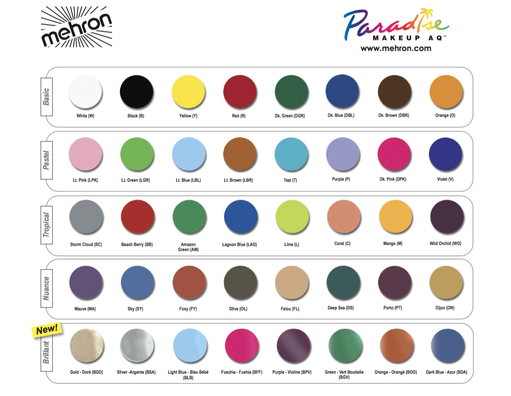 Paradise Makeup Aq Professional Size Batts Audio Video And Lighting