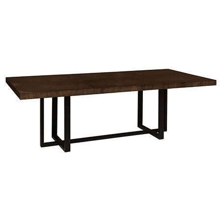 rectangular dining table with wood top