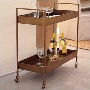 metal serving cart