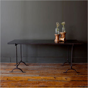 Industrial chic desk in wood and iron