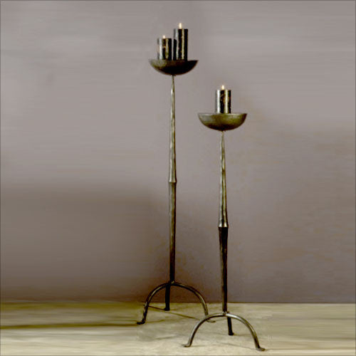 Black iron candle stand