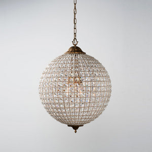 round glass bead chandelier