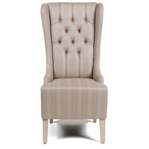 Highback dining chair with tufted upholstery