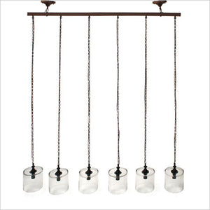 6-light mason chandelier