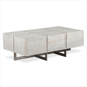 coffee table in wood and metal
