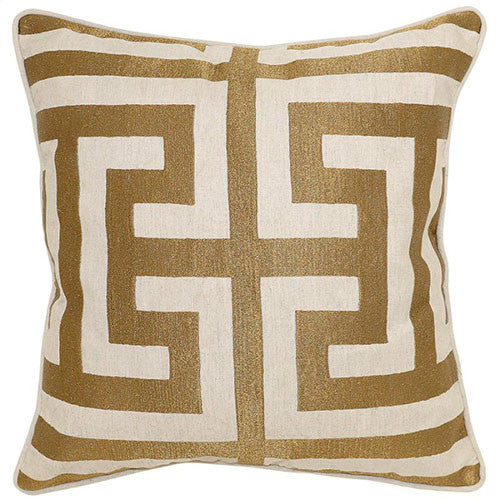 gold and cream pillow