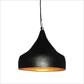 Black metal pendant lamp