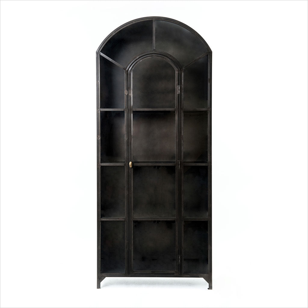 metal cabinet with curved top