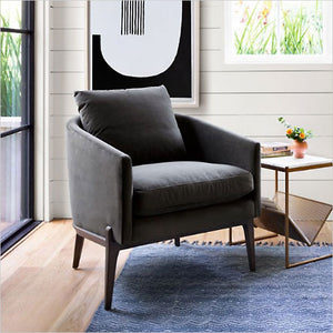 accent chair with pillow