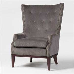 Tufted high back accent chair
