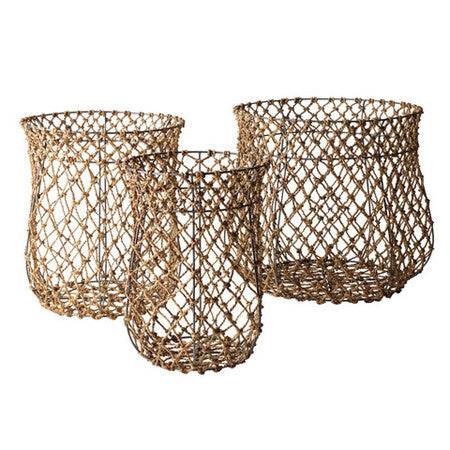 Baskets made of fishermans rope