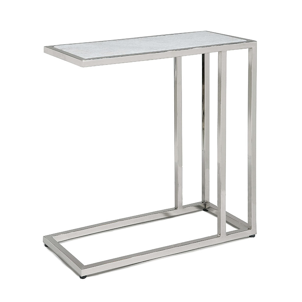 accent table with polished nickel frame