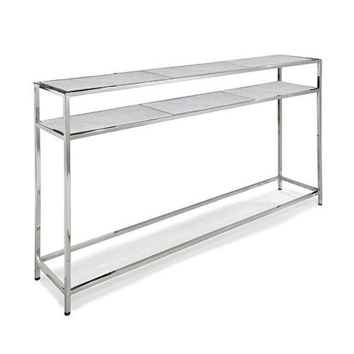 console table with stainless steel frame