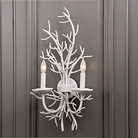 White nautical inspired iron wall sconce