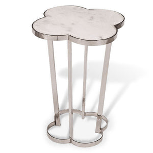 side table with quatrefoil motif