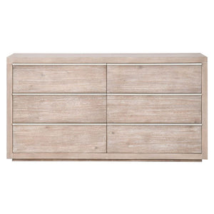dresser with stainless steel pulls