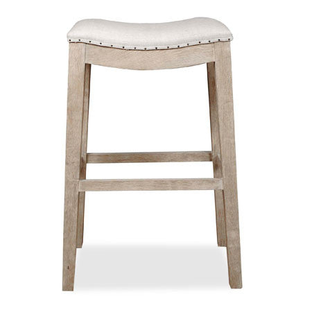 Barstool with nailhead trim