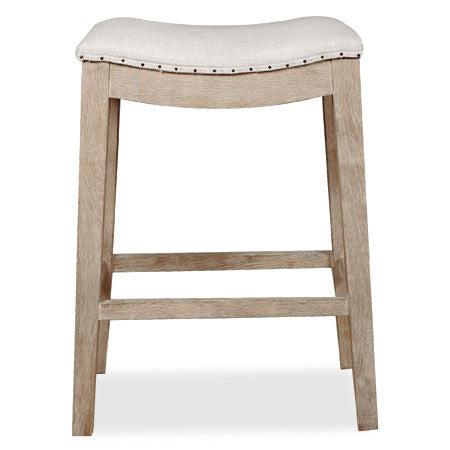 Counter stool with nailhead trim
