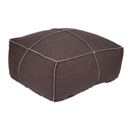 Andrew pouf ottoman in sepia fabric