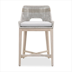 counter stool with rope back