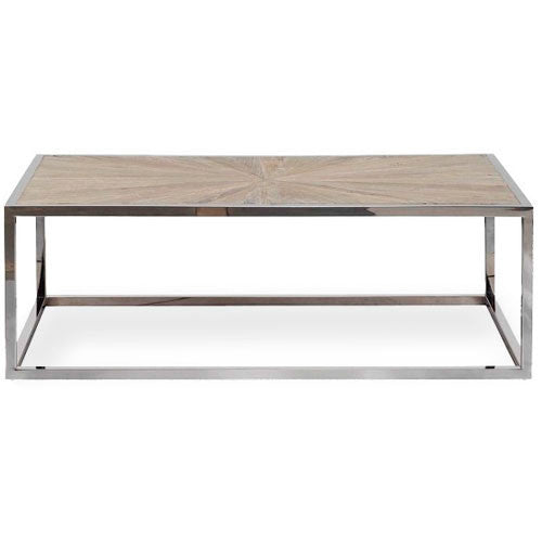 coffee table with stainless steel frame