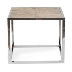 end table with stainless steel frame