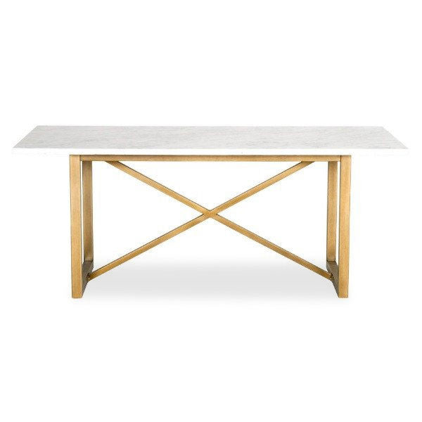 rectangular marble top dining table
