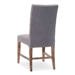 fabric side chair with tufting