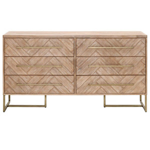 dresser with herringbone inlay