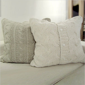 Manhattan Oyster Pillow (Left) and Malibu Antique White Pillow (Right)