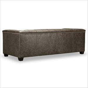 leather sofa with tufting