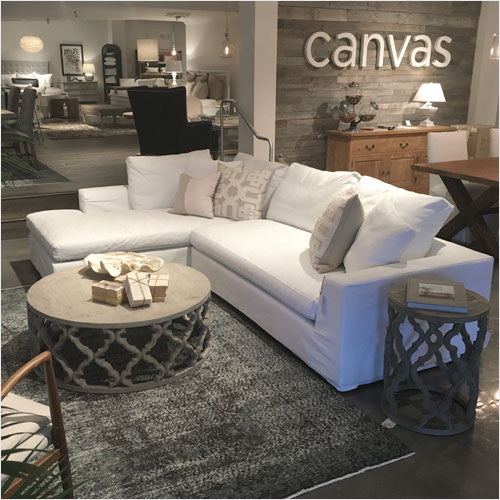 Del Mar Sectional Sofa   With Chaise, Durable Slipcover Fabric   Canvas  Interiors | Furniture Store