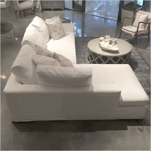 Del Mar Sectional Sofa with chaise durable slipcover fabric