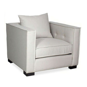 armchair with tufting