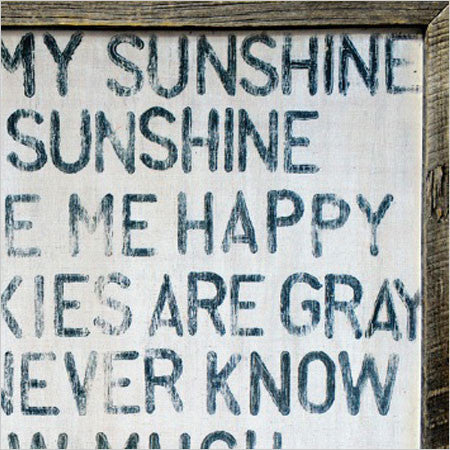 You Are My Sunshine Wall Art you are my sunshine wall art - reclaimed wood - canvas interiors