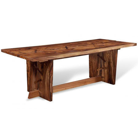 rectangular wood dining table