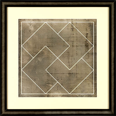 Geometric blueprint iii wall art square frame canvas interiors geometric blueprint iii malvernweather Image collections
