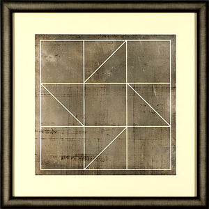 Geometric print in square frame