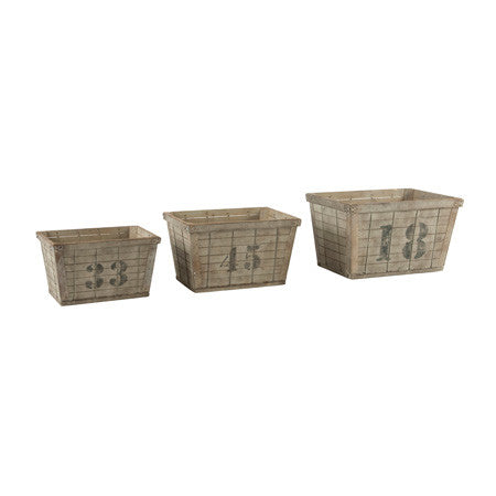 Set of 3 Industrial Crates