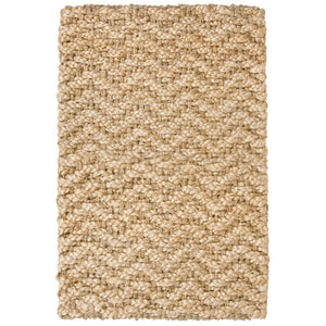 Thick braided herringbone patterened rug