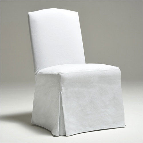 Monaco Slip Covered Dining Chair With Curved Top And