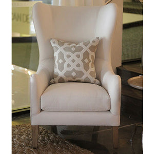 fabric wingback chair