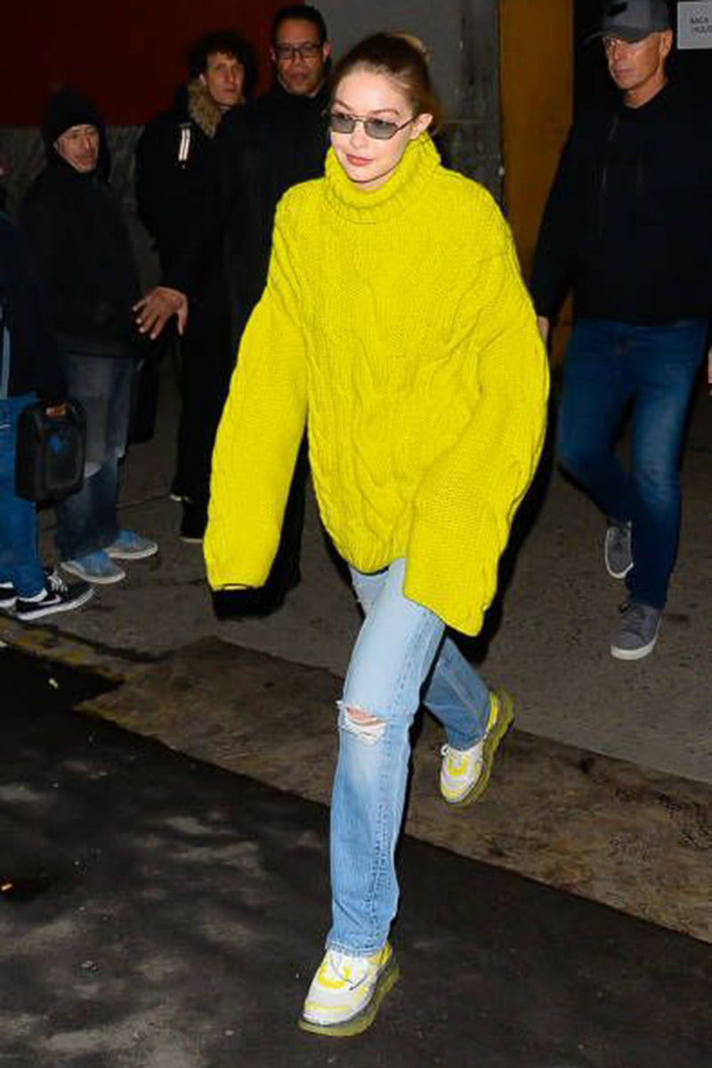 Gigi Hadid wearing SHOES 53045 Bump'Air Acid