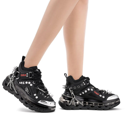 SHOES 53045 - BUMP'AIR - BLACK GOTHIC HT