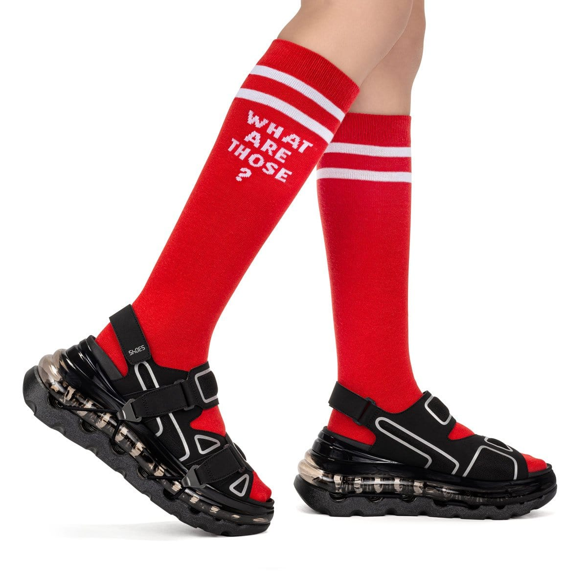 SHOES 53045 - SOCCER SOCKS - RED