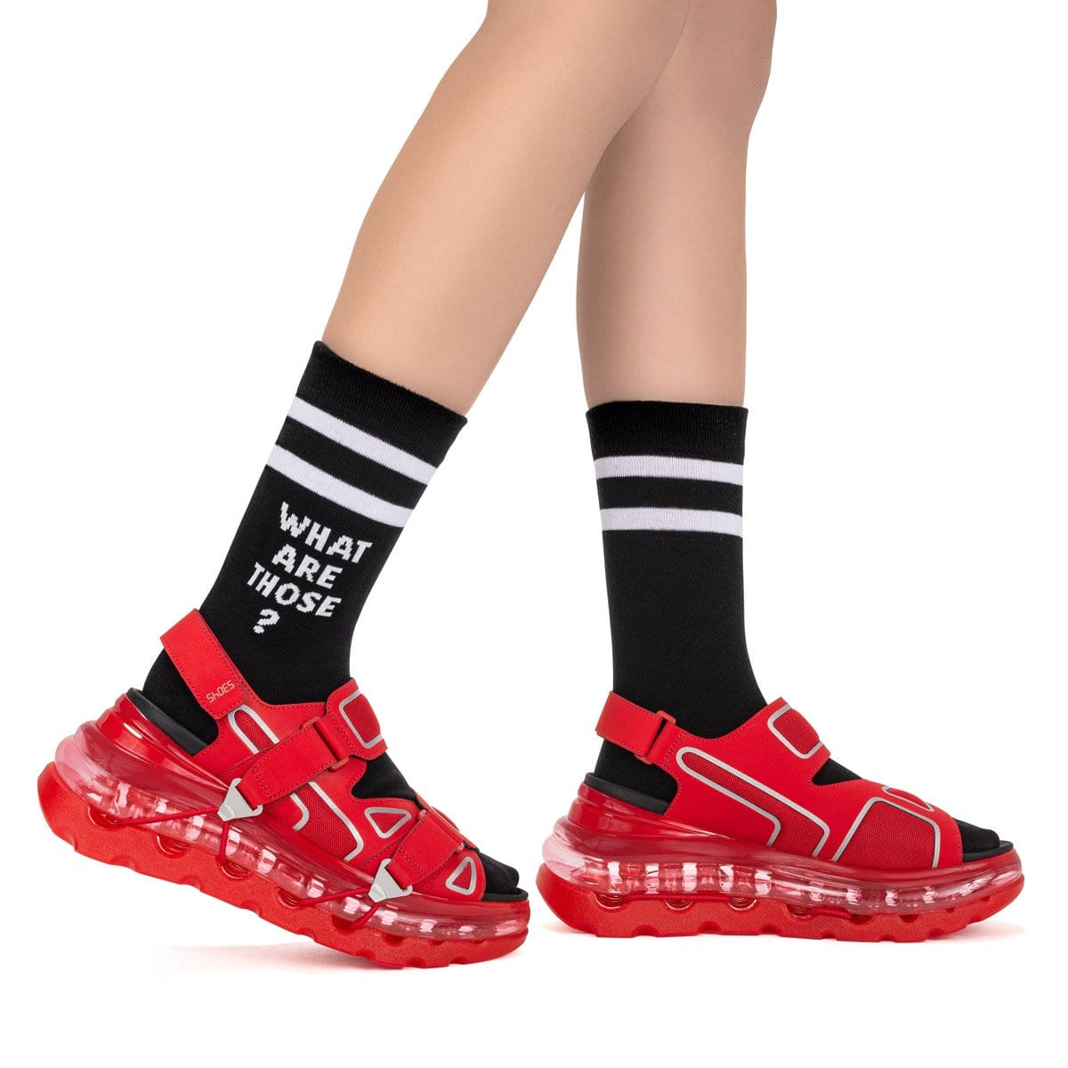 SHOES 53045 - CREW SOCKS - BLACK