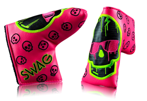 "Swag Golf ""Neon Pink Dripping Skull"" Headcover"