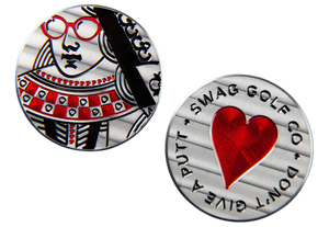 "Swag Golf ""Queen of Hearts"" Marker"