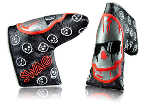 Swag Golf Dripping Red Mercury Skull Ostrich Headcover